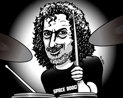 Simon Phillips caricature likeness