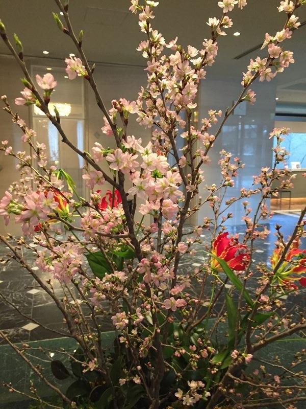 ホテルロビーの花