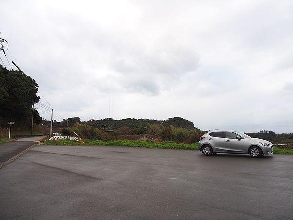 棚畑展望台の駐車場
