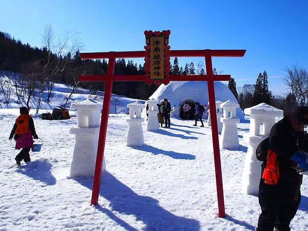 かまくら神社@つなん雪まつり