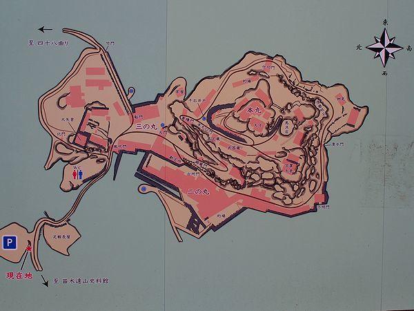 苗木城の地図