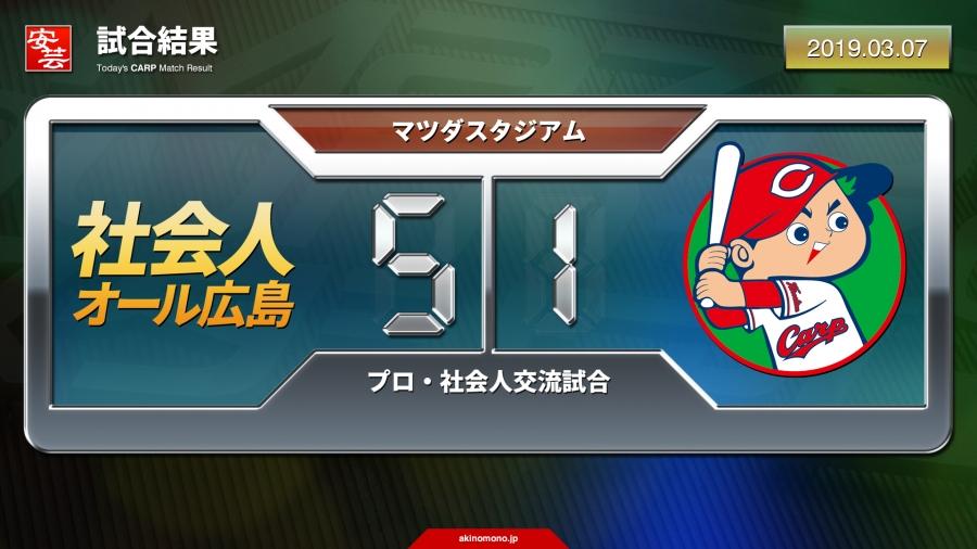 社会人オール広島戦(2019)の試合結果