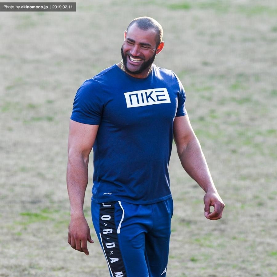春季日南キャンプでのメヒア選手(2019年)