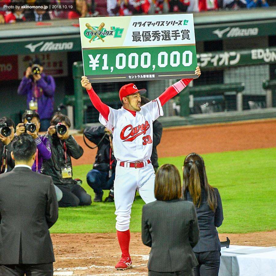 CSファイナルで最終週選手に選ばれた菊池涼介選手