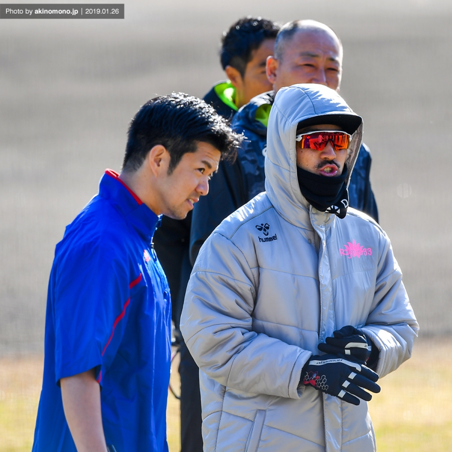 日南先乗り自主トレに参加する菊池涼介選手(2019年)