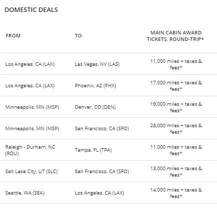 1デルタ航空が特典航空券のマイル数が少なくなるフラッシュセール2