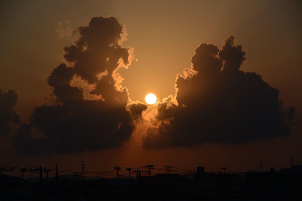 久し振りの夕陽-2