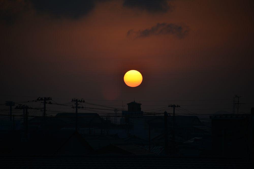 久し振りの夕陽-3