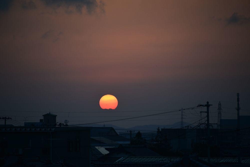 久し振りの夕陽-5