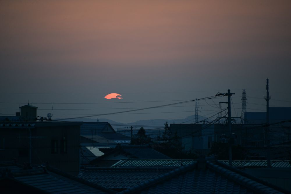 久し振りの夕陽-6