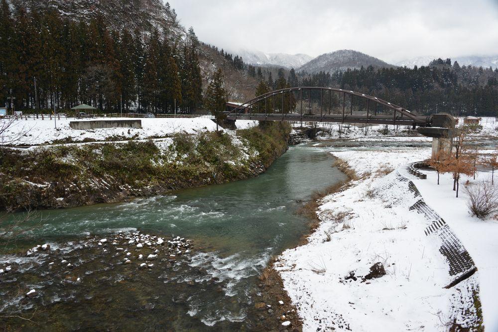 五十嵐川雪景色-1