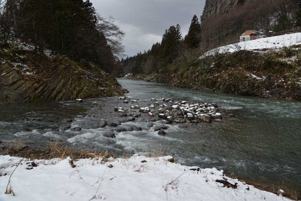 五十嵐川雪景色-2