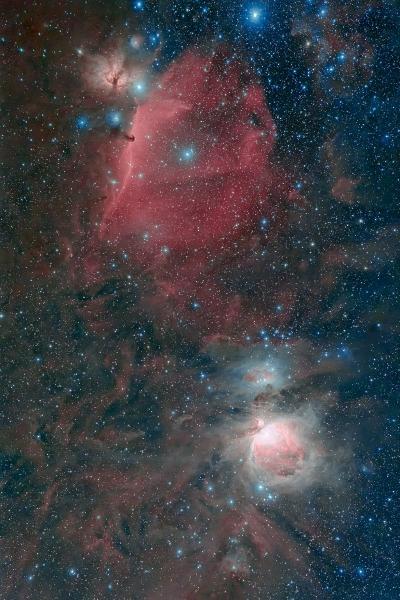 オリオン中央部の散光星雲_20181229a
