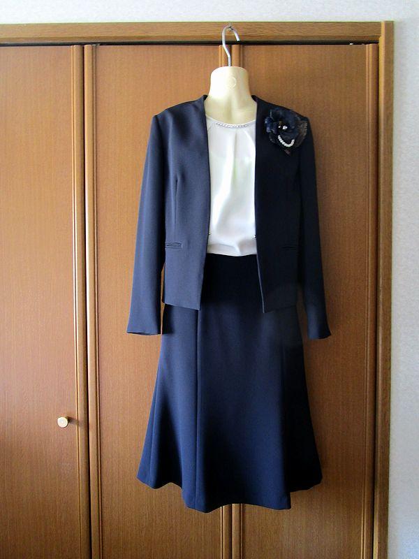 23区 洗える トリアセダブルジョーゼットノーカラージャケット スカート (7)