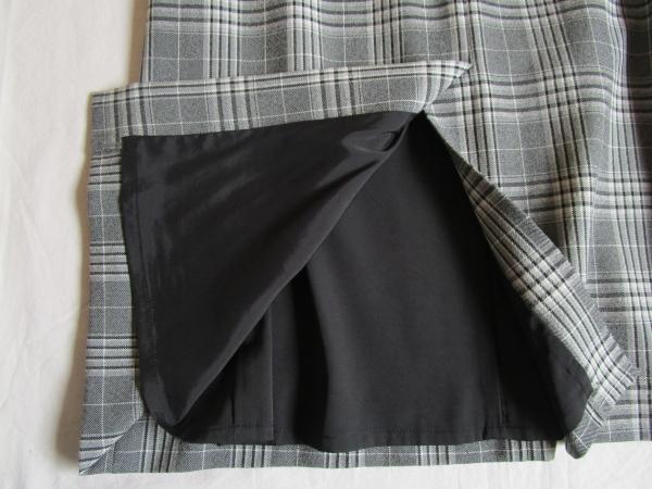 6.PLST チェックAラインマキシスカート (5)