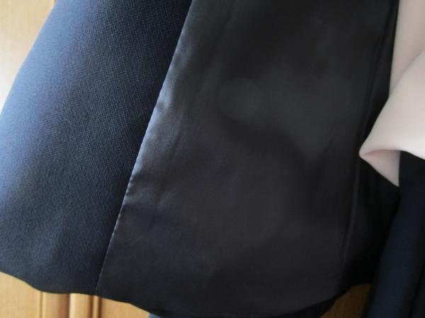 オンワード23区 洗える トリアセダブルジョーゼットノーカラージャケット5