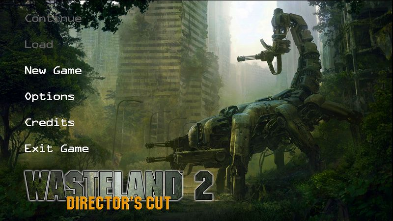 PC 版 Wasteland 2 Director's Cut 日本語方法、ゲーム起動後 Options をクリック