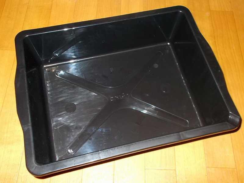 スプレー缶・オイル缶・カセットボンベを収納する保管用ボックスとしてエーモン オイル受皿 8L 1601 購入