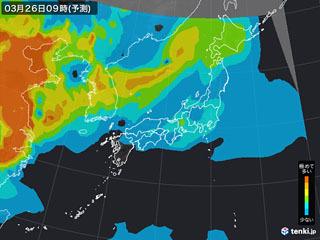 PM2.5分布予測(3月26日9時)