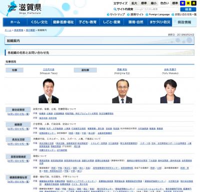 滋賀県組織図
