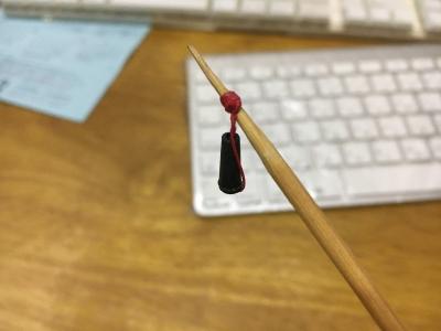 作りかけのウキゴム変換アダプター