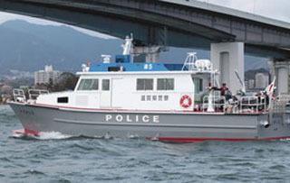 琵琶湖水上警察の新警備艇「たかしま」