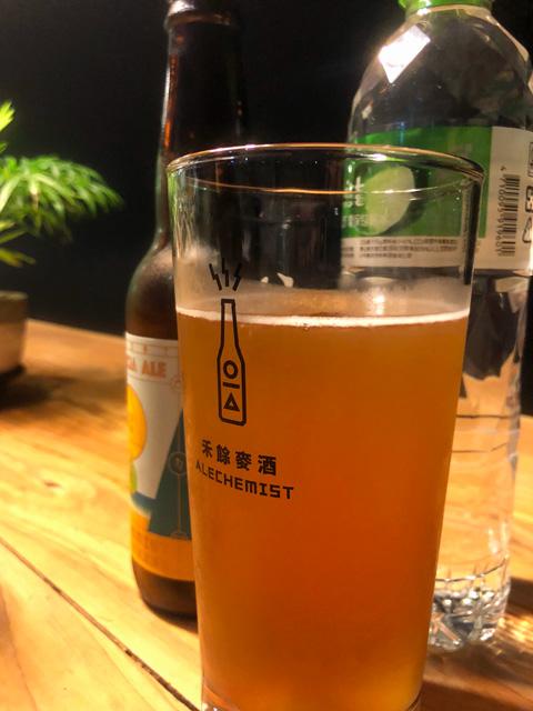 二晩目もビール