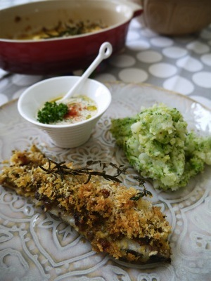 白身魚のオーブン焼きとタルタル2