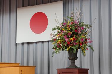 卒業式 卒園式 演台花 お別れ 豊川 御津 花屋 花夢