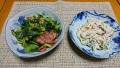 お豆腐の白和え 青菜炒め 20190404