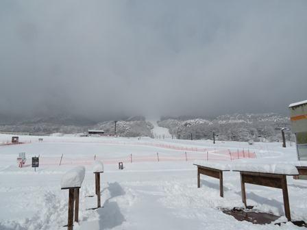 たっぷりの新雪