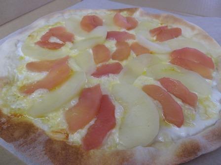 リンゴのピザ