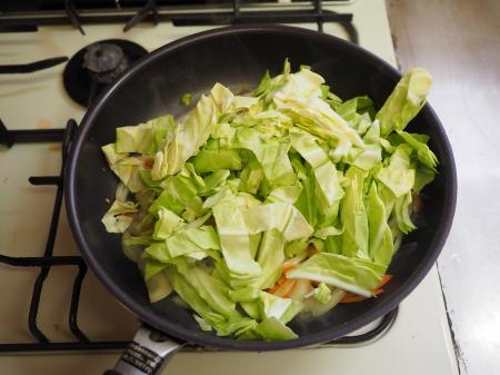 鶏むね肉とキャベツの生姜味038