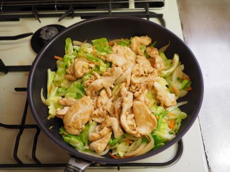 鶏むね肉とキャベツの生姜味040