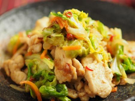 鶏むね肉とキャベツの生姜味019