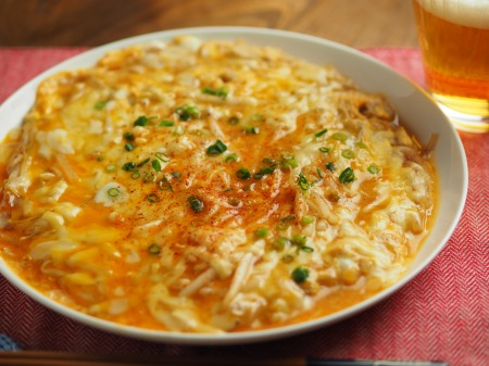 もやしのチーズとろとろ卵とじ023