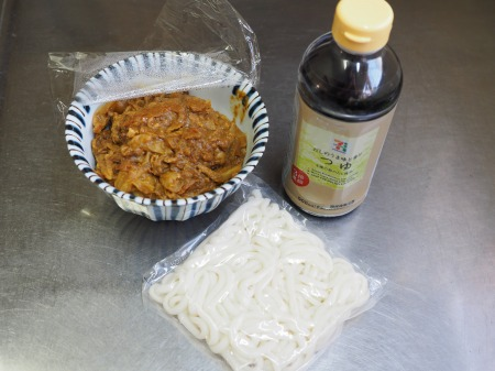 残ったカレー、麺つゆ、うどん022