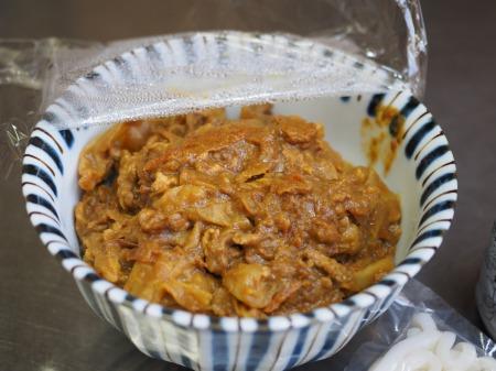 残ったカレー、麺つゆ、うどん025