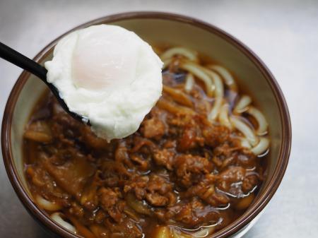 残ったカレー、麺つゆ、うどん051