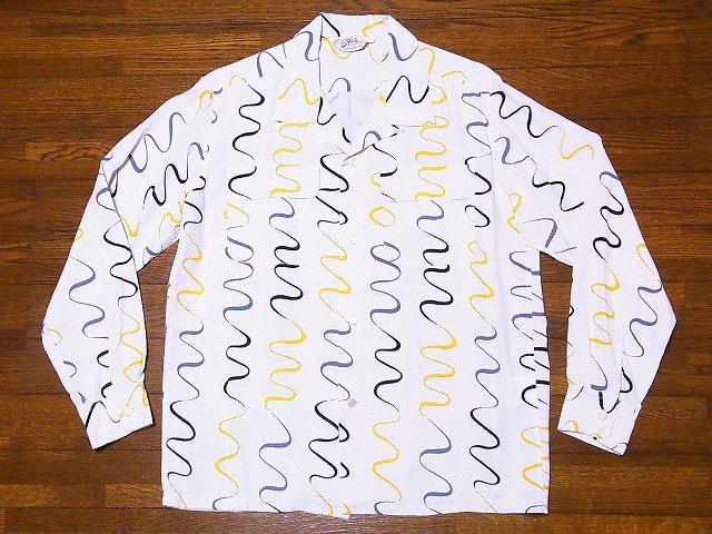 スターオブハリウッド 長袖オープンシャツ SH28123 WAVY STRIPE