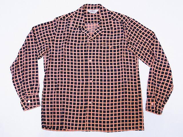スターオブハリウッド STAR OF HOLLYWOOD 長袖オープンシャツ SH28125 SQUARE GRID