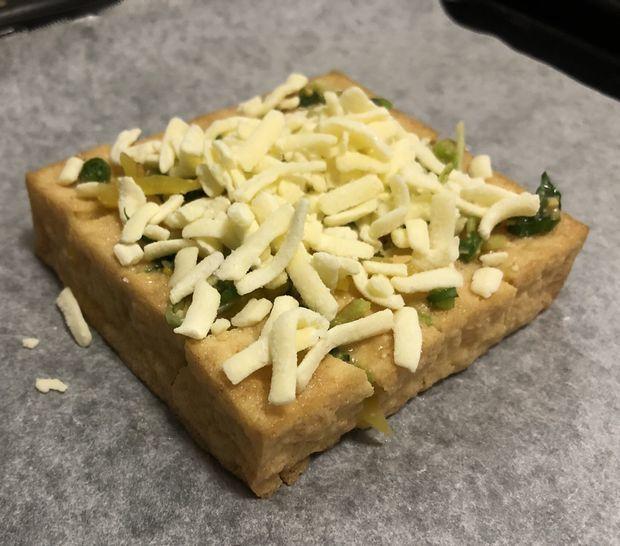 厚揚げの味噌チーズ焼き②