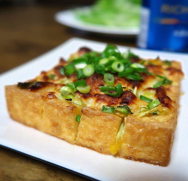 厚揚げの味噌チーズ焼き④