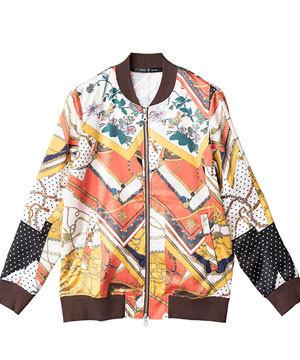 総柄MA-1ジャケット ブルゾン 人気