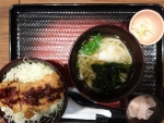 特製ソースチキンかつ丼と温うどん@大戸屋ごはん処カリーナ江坂店