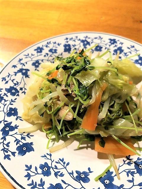 天ぷら しず 野菜炒め