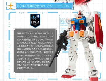 GUNDAM FIX FIGURATION METAL COMPOSITE RX-78-02 ガンダム(40周年記念Ver.) 商品説明画像 (4)