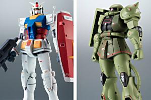 ROBOT魂 RX-78-2 ガンダム ver. A.N.I.M.E. ~リアルマーキング~、ROBOT魂 MS-06 量産型ザク ver. A.N.I.M.E. ~リアルマーキング~t