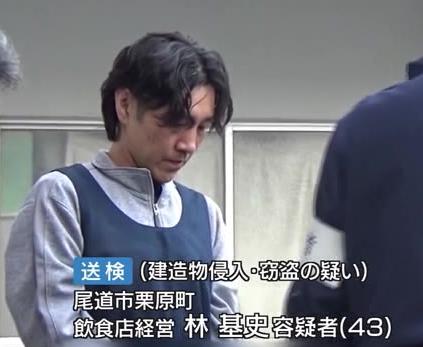 林 基史容疑者(43)