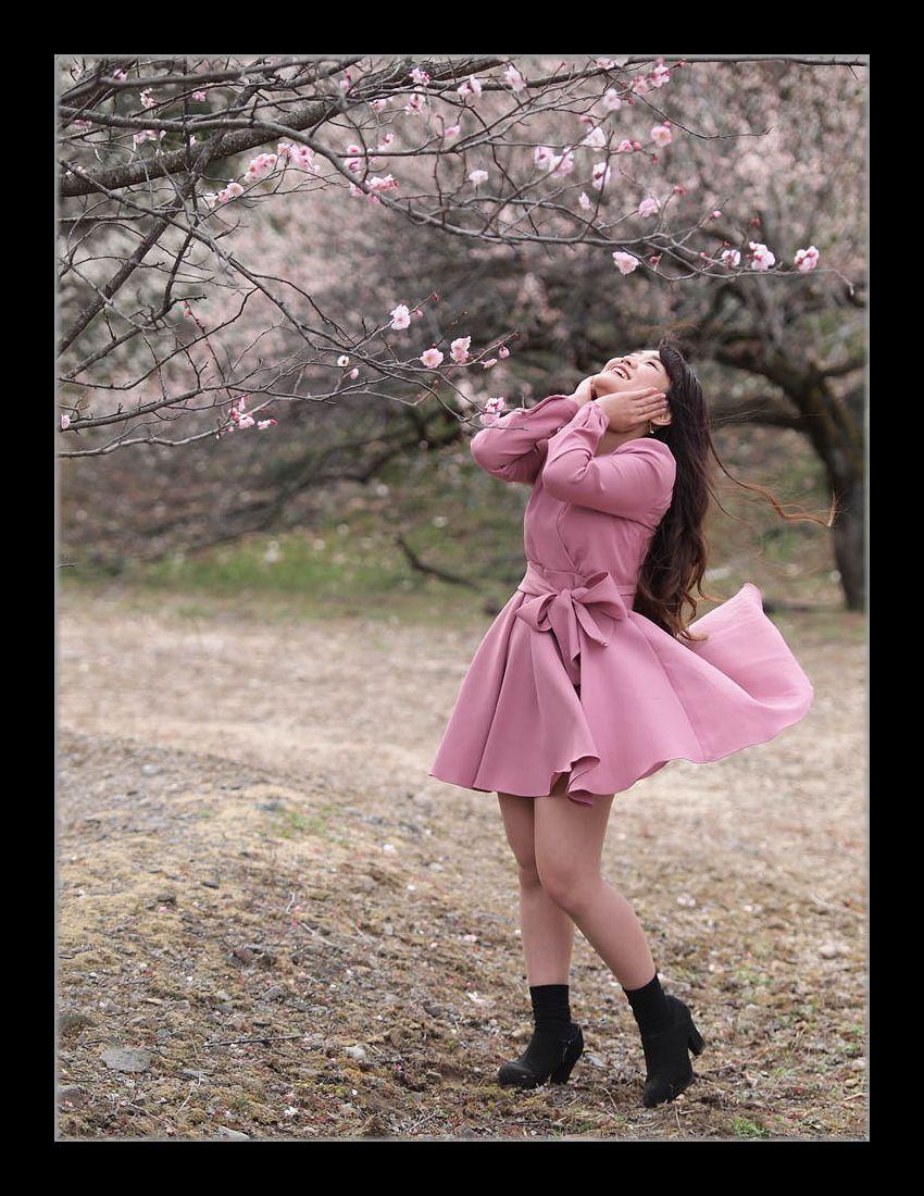 ピンクのワンピ